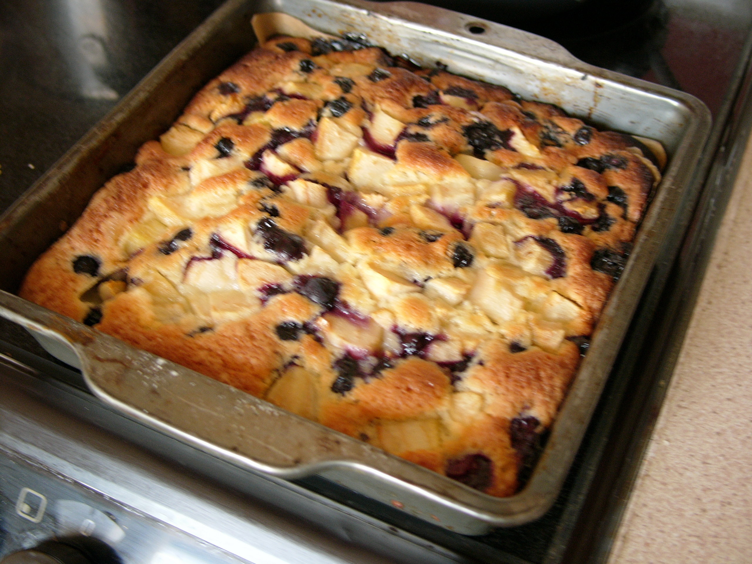 A Summer Birthday Cake Nigel Slaters Blueberry And Pear Chop